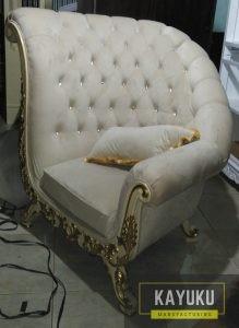 Sofa Minimalis Bludru Mewah
