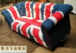 Sofa Motif Bendera Inggris
