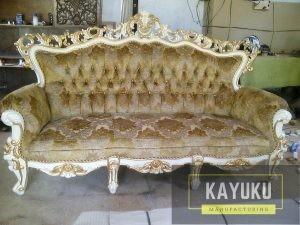Sofa Ukir Bludru Klasik Minimalis